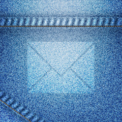 Mail icon on jean background