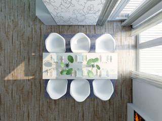 Modern, Extravagant Dining Room, Birdview Penthouse