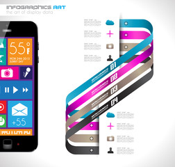 Modern Infographic with a touch screen smartphone i