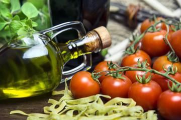 Salatzutaten in der Küche