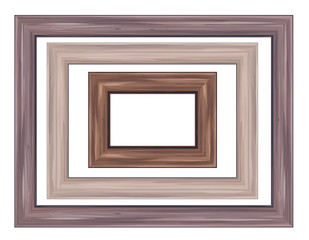 Vector of wooden  frames.