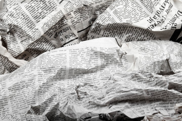 Foto op Aluminium Kranten background of old crumpled newspapers
