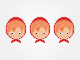 Expression of Girl in the redhood