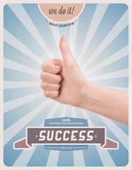 Retro style poster of guaranteed success
