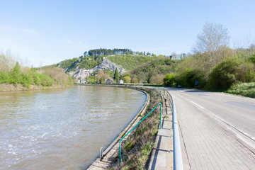 Embankment of the River Meuse near the Belgian City of Dinant