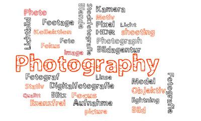 Photography Wörter Text Cloud orange