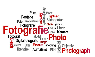 Fotografie rot Text Photo