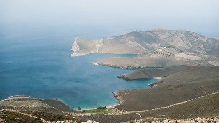 Wall Mural - Greece siros island panoramic view
