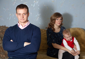 family after quarrel in home