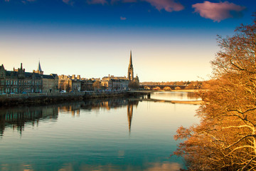 View of the River Tay in Perth Scotland