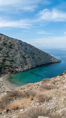 Wall Mural - Greece siros island beach from above