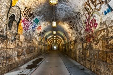 Poster Tunnel Urban underground tunnel