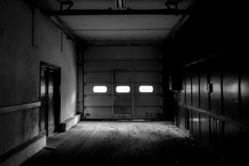 Industrial interior of a factory