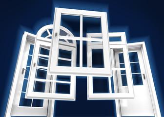 Doors and windows catalogue, blue