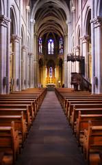 Beautiful church's corridor