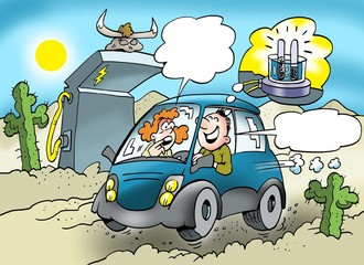 Eco-friendly car that runs on mixed fuel