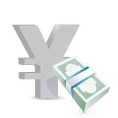 yen currency bills exchange concept