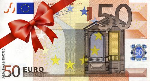 """50 euroschein mit rotem band und schleife"""" stockfotos und, Einladung"""