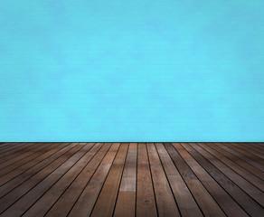 Raum mit Holzboden und Wand in Wischtechnik