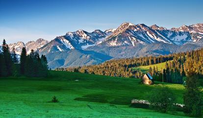 Fototapete - Polish Tatra mountains landscape