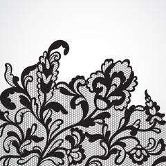 Vector lace ornament