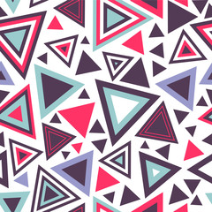 Poster ZigZag Colorful abstract seamless pattern with triangles