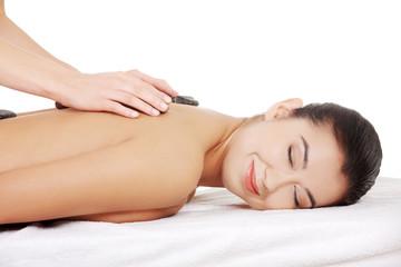 Stone massage.