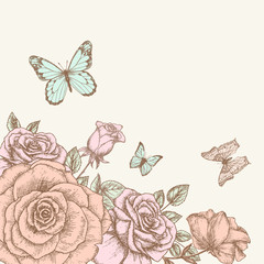 Rose and butterfly 1