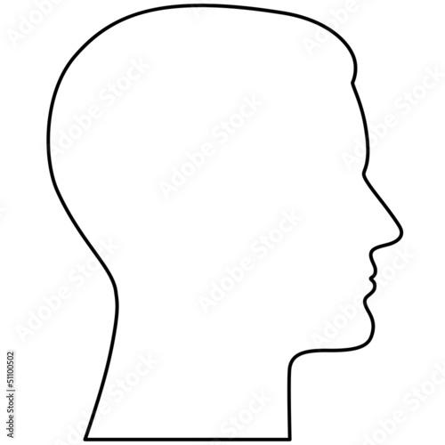 Kontur eines männlichen Kopfes im Profil – Vektor\
