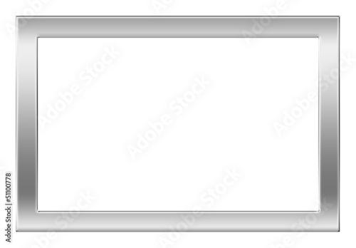 Bilderrahmen Silber Glanzend Format 2 3 Schatten Stockfotos Und