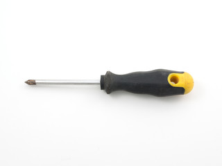 A electrical screwdriver isolated white background.