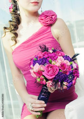 красивыэ дівчата з фото з букетом троянд