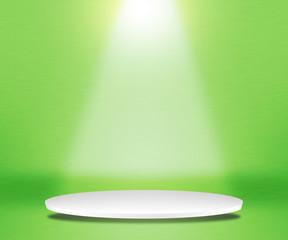 Round Podium Green Background