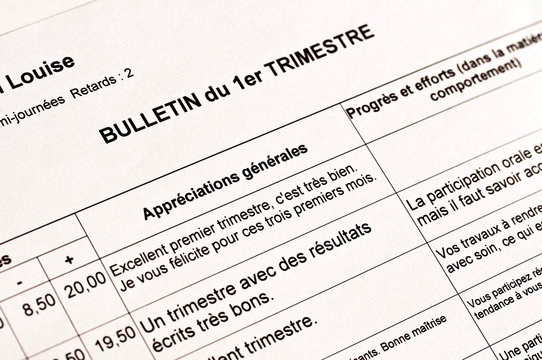 Bulletin scolaire