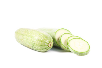 fresh green marrow isolated over white background