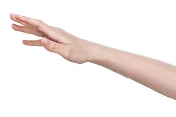 female teen hand of hope