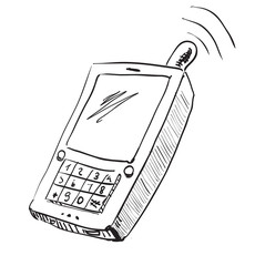 Old school mobile phone icon
