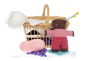 ours en peluche tricoté