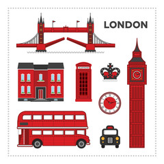 Papiers peints Doodle London set