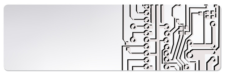 web circuit board techno banner. eps10 vector illustration