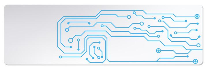 techno circuit web banners. EPS10 vector illustration