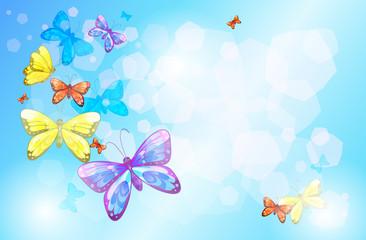 Zelfklevend Fotobehang Vlinders A special paper with colorful butterflies