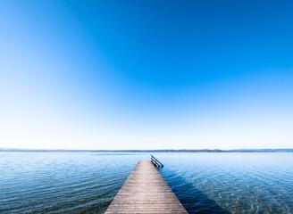 Deurstickers Pier wooden jetty