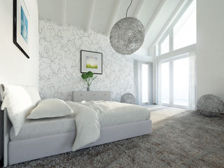 modern master bed room penthouse