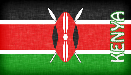 Linen flag of Kenya