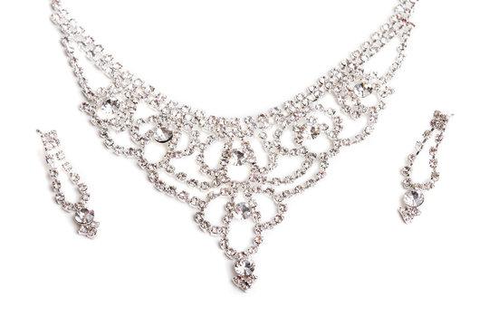 Close-up Of Diamond Necklace