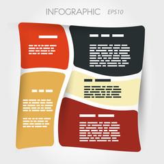 twisted square presentation inforgaphic layout