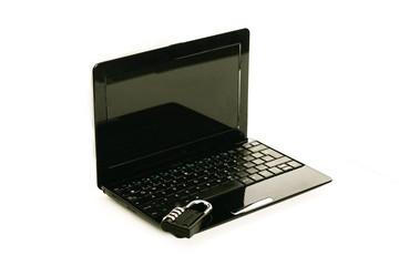 Laptop mit Schloss