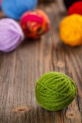 Green woolen clew