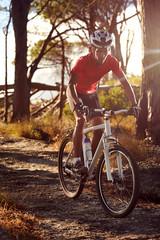 Fototapete - bicycle man